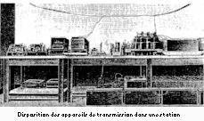 Appareils de transmission a la station d'Antibes-la-Brague